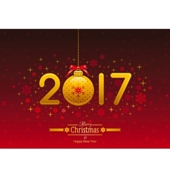 New Year 2017 poster banner abstract template vector image vector image