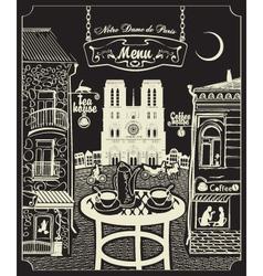 Paris cafe vector image