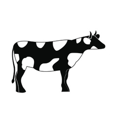 Spotted cow icon simple style vector image