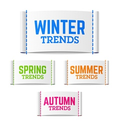 Winter spring summer and autumn trends vector image