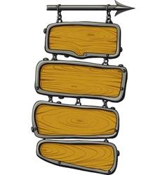 wooden boards color vector image