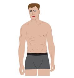 a man vector image