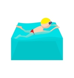 Butterfly swimmer cartoon icon vector image vector image