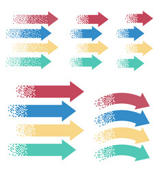 colored arrows pointer vector image