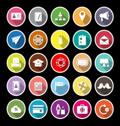 Contact connection flat icons with long shadow vector image vector image