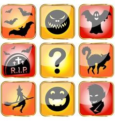 Halloween avatars small vector image vector image