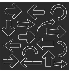 Line Arrows vector image