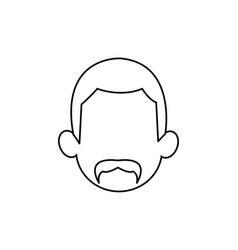 outline head man character person vector image vector image
