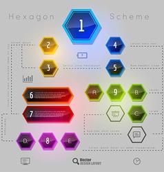 Rainbow Hexagon vector image vector image