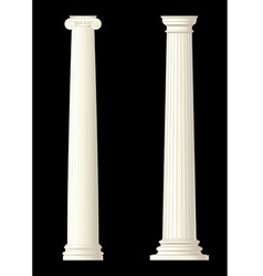 set of 2 columns vector image