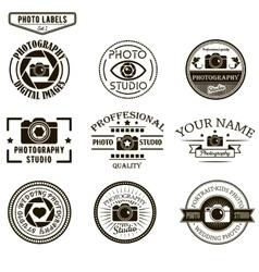 set of photography logo templates Photo vector image vector image