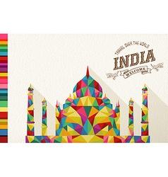 Travel India landmark polygonal monument vector image