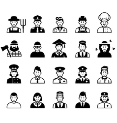 Avatar and People occupations icons Human vector image vector image