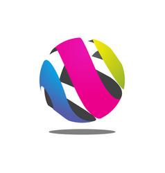 colorful abstract circle logo vector image vector image