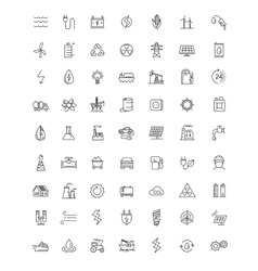 flat energy icons vector image vector image