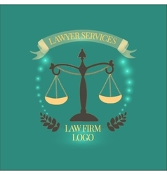 Law firm services gold vector image