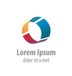 Letter O industrial logo vector image vector image