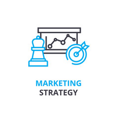 marketing strategy concept outline icon linear vector image