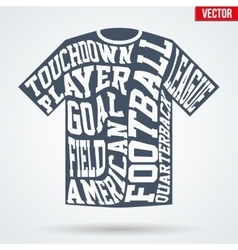 Sports symbol shirt of American football with vector image vector image