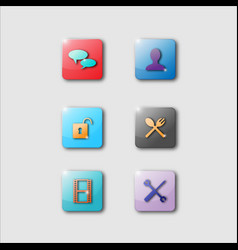 3d smartphone app icons vector image