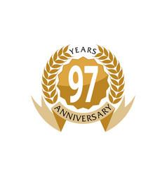 97 years ribbon anniversary vector