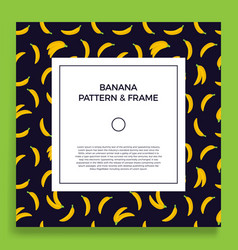 a square postcard with seamless banana patterns vector image