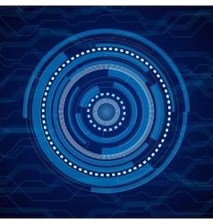 Abstract internet technology blue vector