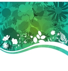 Abstract Natural Spring Background with Flowers vector image vector image