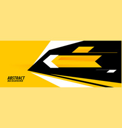 Abstract sports background in yellow geometric vector