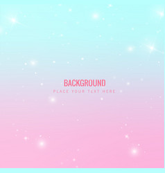 abstract star shining blue pink background vector image
