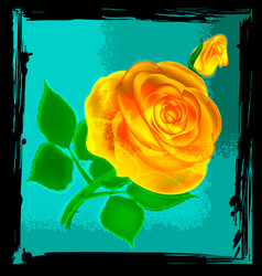 abstract yellow rose vector image