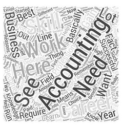 Accountancy Career The Reasons Why You Should vector image