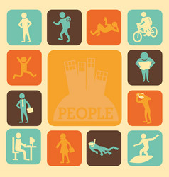 Activities of people vector