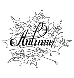 Autumn Calligraphic Lettering vector