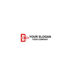 b flower logo design vector image