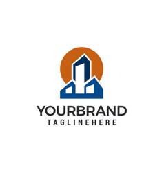 building town logo template design vector image