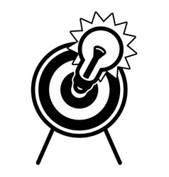 bulb target icon simple style vector image