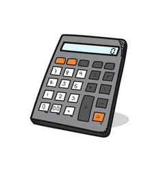 Calculator on a white background vector