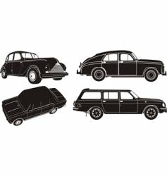 car silhouette set vector image vector image