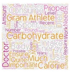 Carbohydrates the Essential Energy Source text vector image