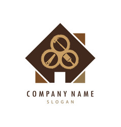 carpentry company logo vector image