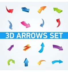 Colorful 3d arrows set vector