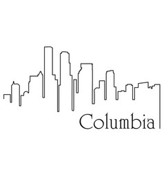 columbia city one line drawing vector image
