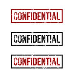 Confidential rubber stamp logo template design vector