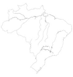 Contour map brazil vector