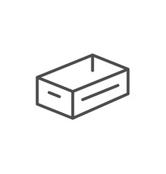 crate line icon vector image