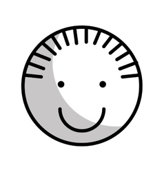 cute boy character icon vector image