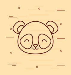 cute panda bear icon vector image