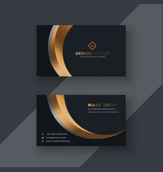 dark premium business card template vector image
