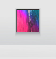 Digital art picture in hot color on the wall in vector